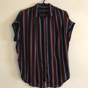 Madewell striped central shirt
